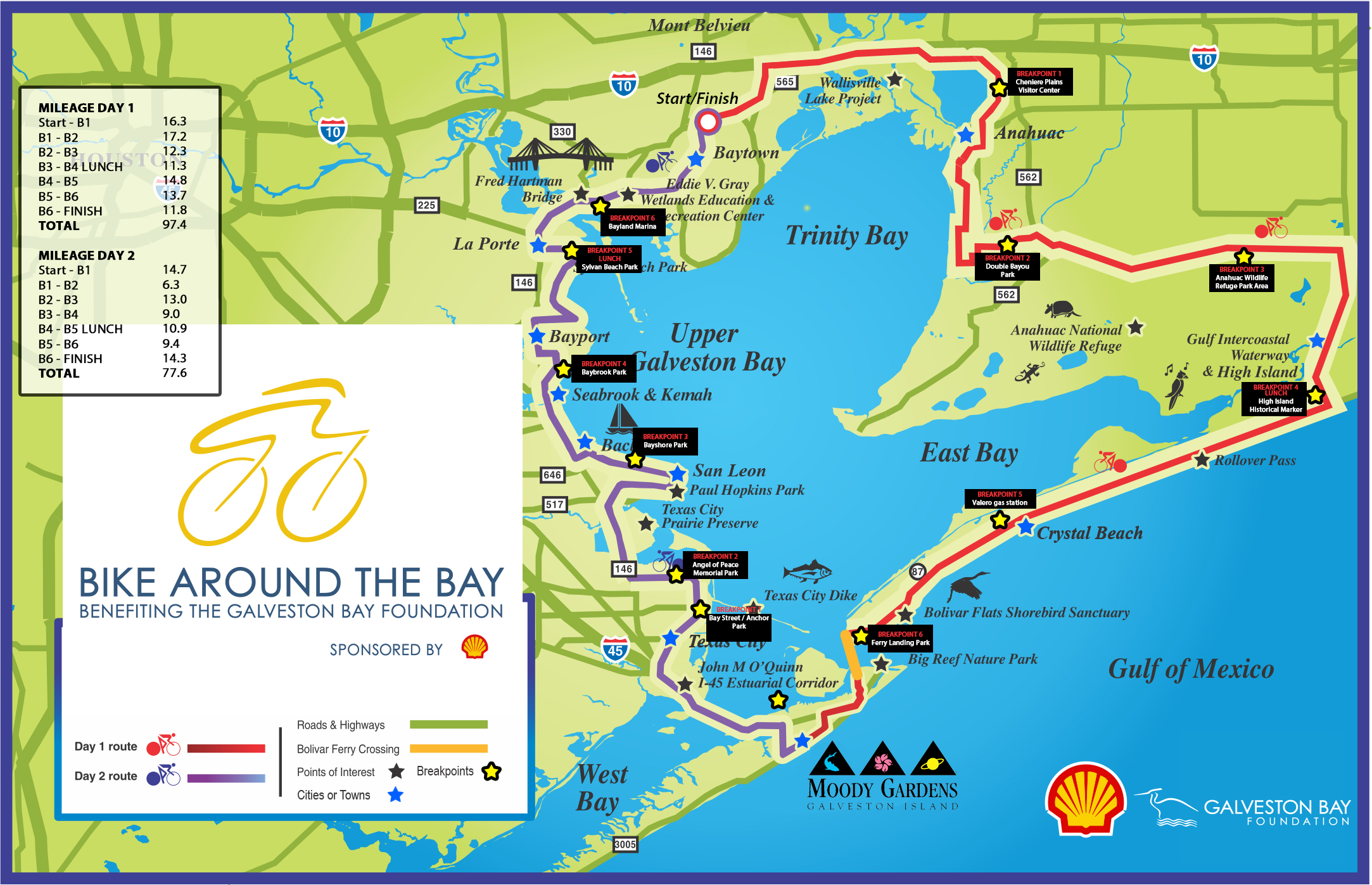 Bike Around the Bay 2018: Routes & Maps - Galveston Bay Foundation on spindletop tx map, southwest houston tx map, port o'connor tx map, collegeport tx map, midtown houston tx map, pearland tx map, santa fe tx map, bunker hill village tx map, southside place tx map, shiro tx map, piney point village tx map, prairie view tx map, conroe tx map, morgan's point tx map, seabrook tx map, clear lake tx zip code map, spring tx map, texas city tx map, galveston tx map, clear lake shores tx map,